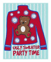 Ugly Sweater Party embroidery design