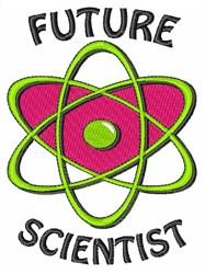 Future Scientist embroidery design