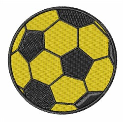 Yellow Soccer Ball embroidery design