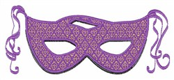 Lavender Party Mask embroidery design