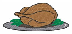 Turkey on Platter embroidery design