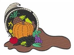 Harvest Cornucopia embroidery design