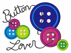 Button Lover embroidery design