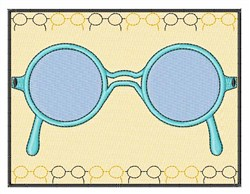 Framed Glasses embroidery design