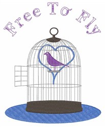 Free to Fly embroidery design