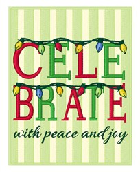 Celebrate With Peace embroidery design