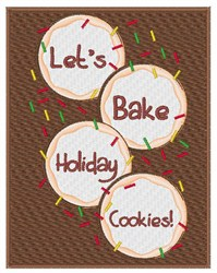 Holiday Cookies embroidery design