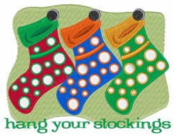 Hang Your Stockings embroidery design