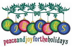 Peace And Joy embroidery design