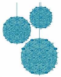 Christmas Balls embroidery design