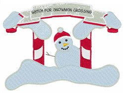 Snowmen Crossing embroidery design