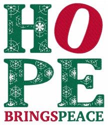 Hope Brings Peace embroidery design