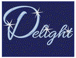 Delight embroidery design