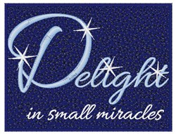 Small Miracles embroidery design