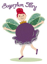 Sugarplum Fairy embroidery design