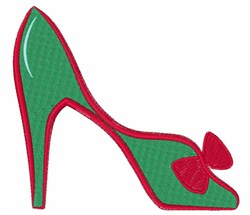 High Heel Shoe embroidery design