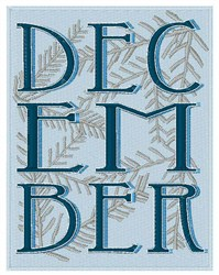 December embroidery design