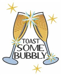 Bubbly Toast embroidery design