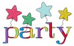 Party embroidery design