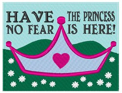 Princess Is Here embroidery design