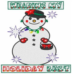My Holiday Best embroidery design