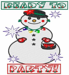 Ready To Party! embroidery design