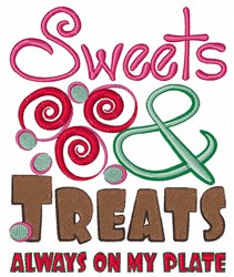 Sweets On My Plate embroidery design