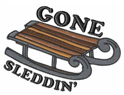 Gone Sleddin embroidery design