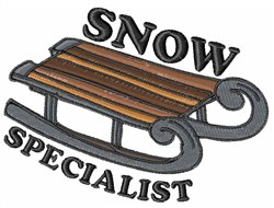 Snow Specialist embroidery design