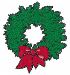 Holiday Wreath embroidery design