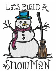 Build A Snowman embroidery design