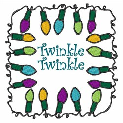 Twinkle Lights embroidery design