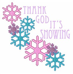 Its Snowing embroidery design