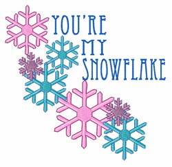 My Snowflake embroidery design