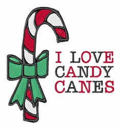Love Candy Canes embroidery design