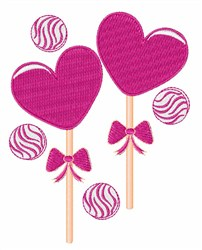 Valentine Candy embroidery design