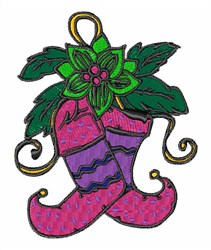 Holiday Stockings embroidery design