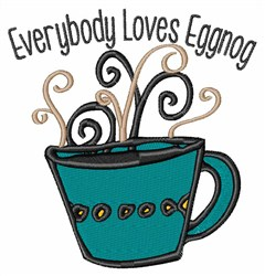 Love Eggnog embroidery design