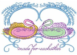 Made For Eachother embroidery design
