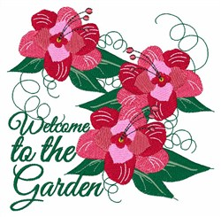 Welcome To The Garden embroidery design