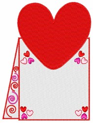 Valentine Card embroidery design