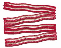 Bacon Strips embroidery design