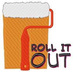 Roll It Out embroidery design