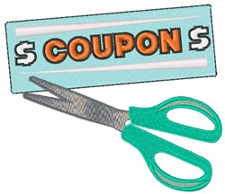 Coupon Clipper embroidery design