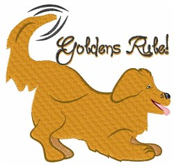Goldens Rule embroidery design