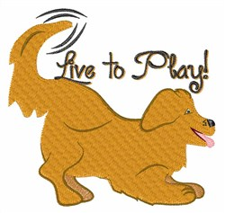 Live To Play embroidery design