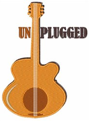 Unplugged embroidery design