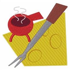 Retro Fondue embroidery design