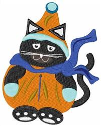 Snow Suit Cat embroidery design