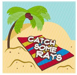Catch Some Rays embroidery design